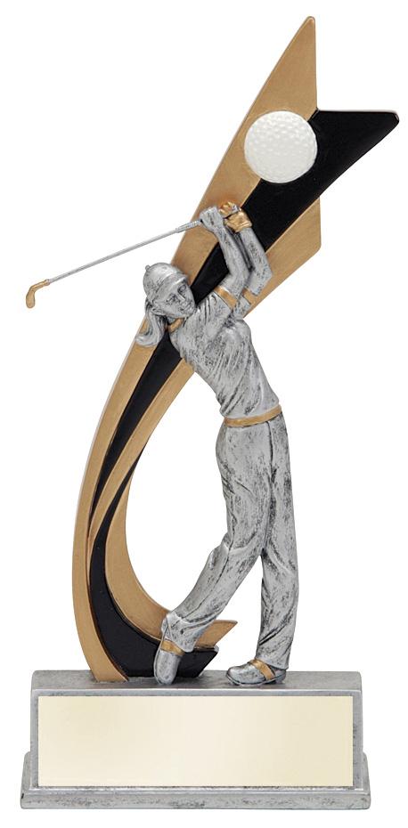 8 live action color golf trophy specify male or female. Black Bedroom Furniture Sets. Home Design Ideas