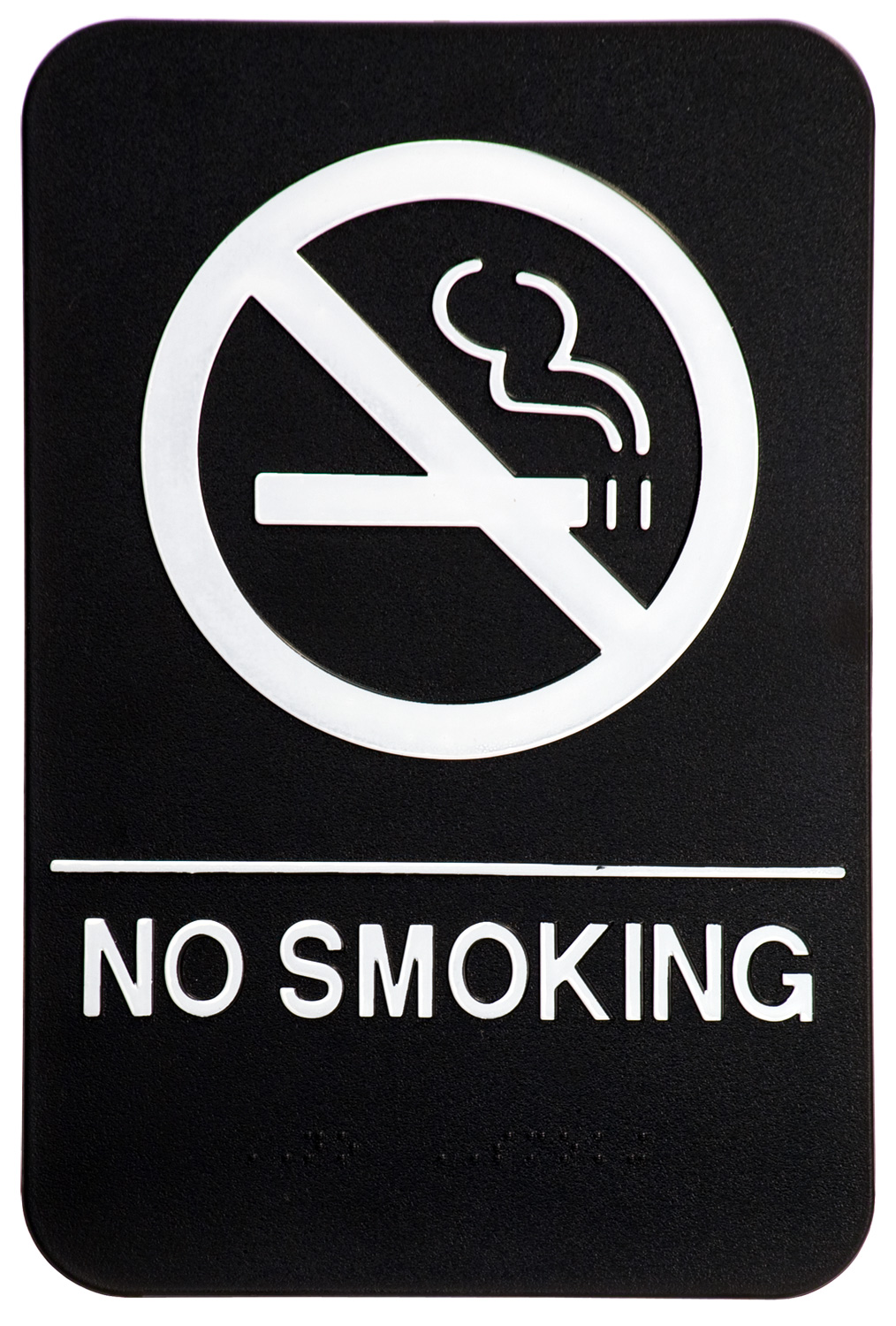 No Smoking Black
