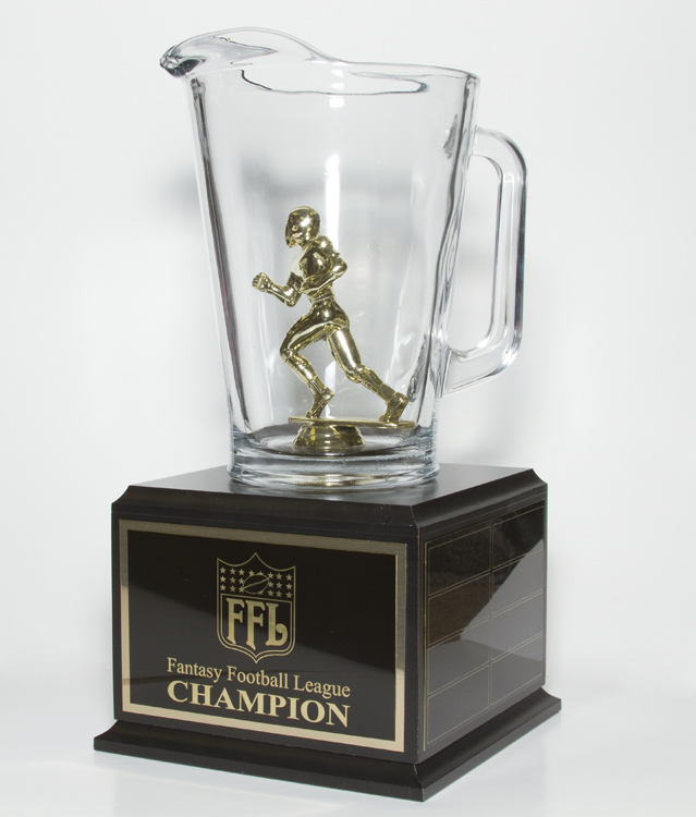 13 3 4 Tall Fantasy Football Trophy Beer Pitcher With